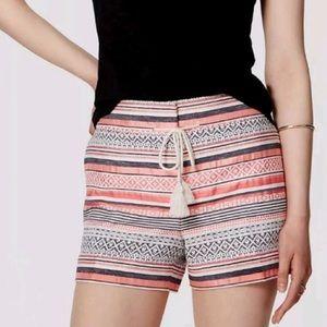 LOFT   Riviera Striped Patterned Shorts